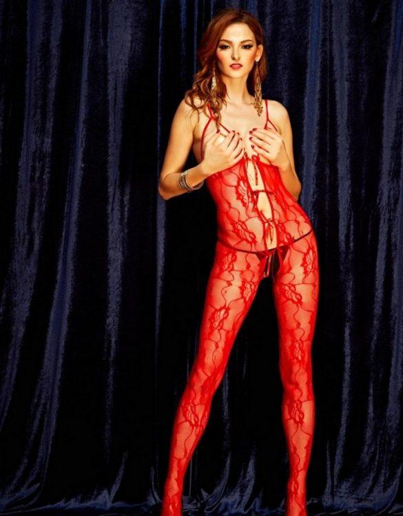 ateşli kırmızı vücut çorabı fk1353