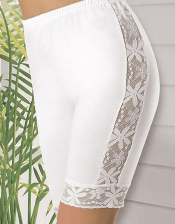 beyaz çiçek desenli diz üstü tayt fk988