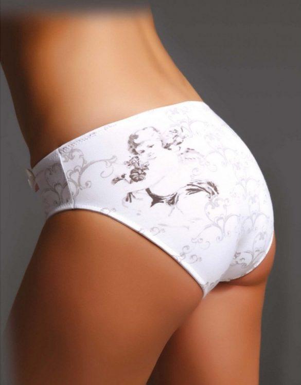 beyaz desenli bikini külot fk1084
