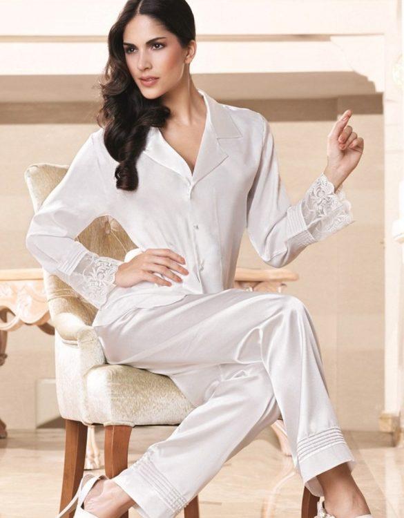 ekru pijama takımı fk991