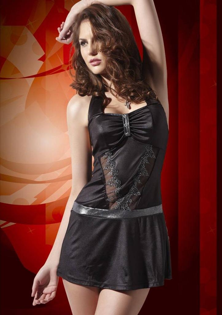 fantazi siyah elbise fk899