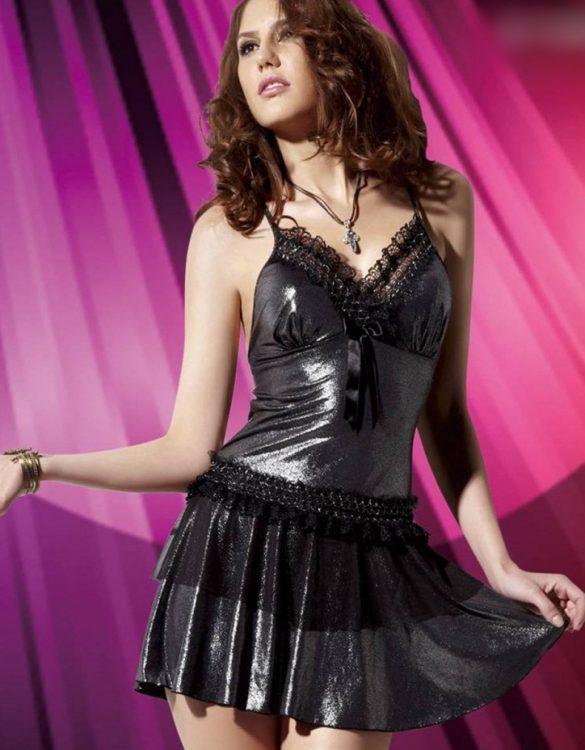 gri fantazi elbise fk771