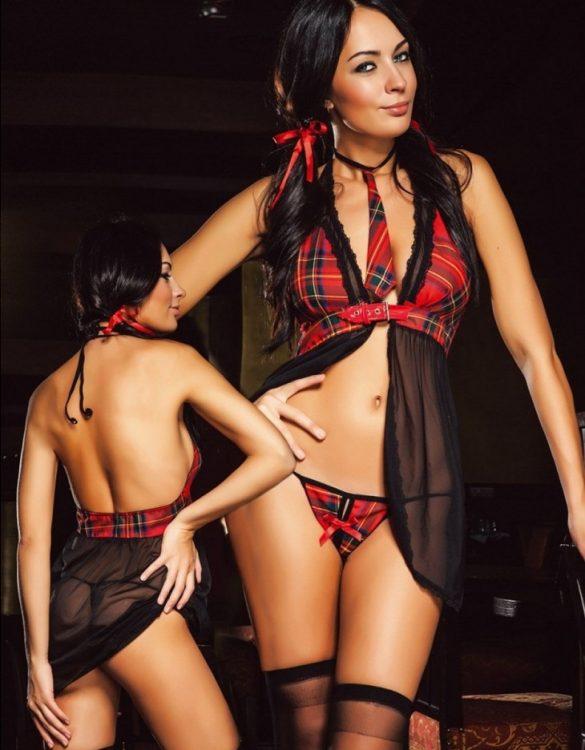 kırmızı erotik öğretmen kostümü fk476
