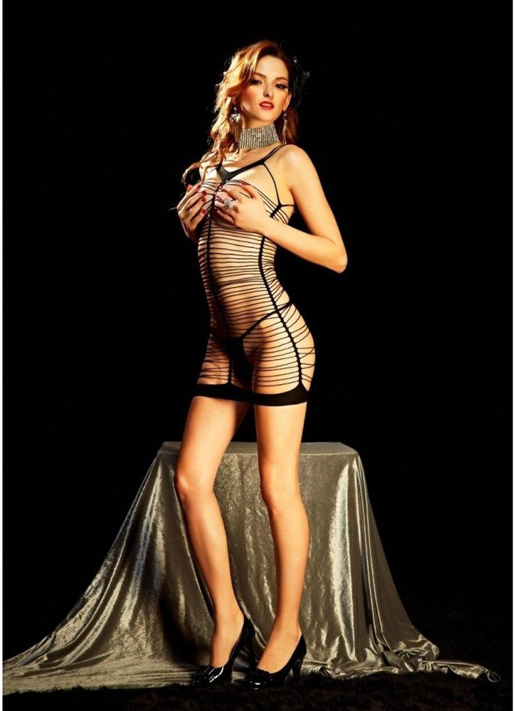 seksi çizgili elbise fk244