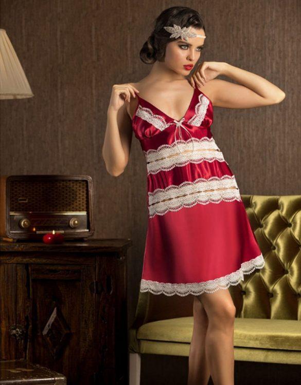 seksi kırmızı gecelik fk621