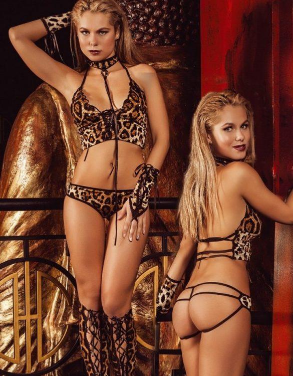 seksi leopar kadın kostümü fk797