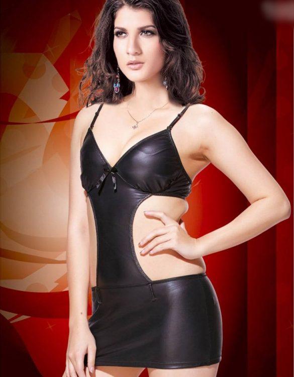seksi siyah elbise fk605