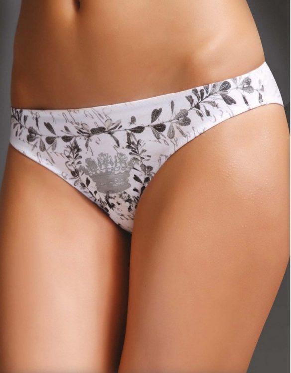 taç desenli beyaz bikini külot fk1420