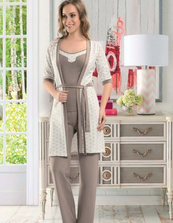 şık sabahlık pijama takımı fk1790
