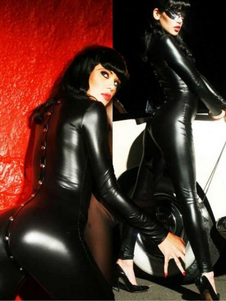 fantazi siyah deri kostüm fk2409