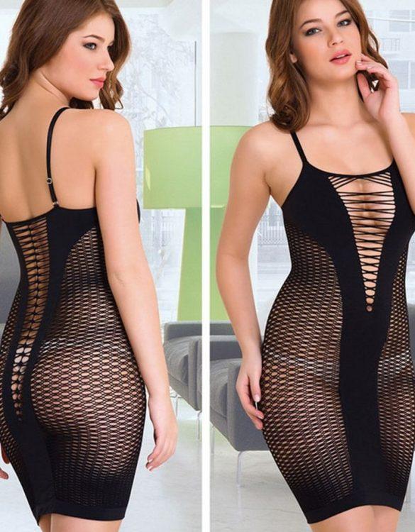 fileli siyah korse elbise fk1984