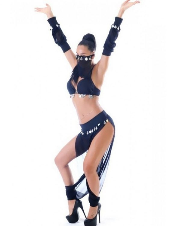peçeli dansöz kostümü fk2577