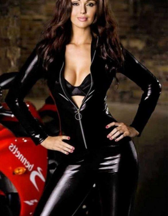 seksi motorcu kız kostümü fk2521