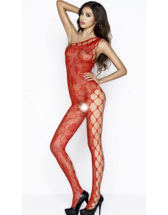 ağı açık kırmızı vücut çorabı fk3857