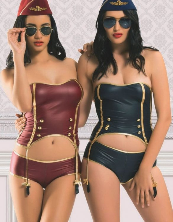 askısız seksi hostes kostümü fk3922