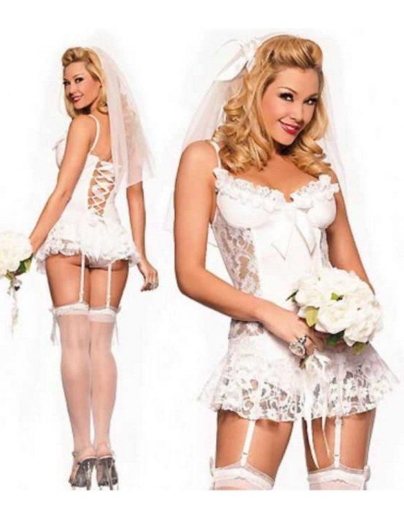 fantezi beyaz gelin kostümü fk4248