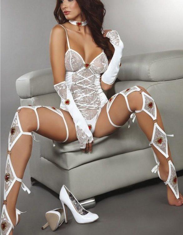 kalpli beyaz dansçı kostümü fk4341