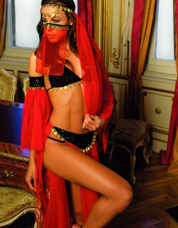 peçeli erotik dansöz kostümü fk3613