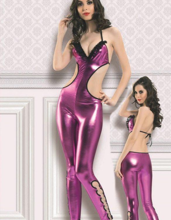 seksi mor dansçı kostümü fk4038