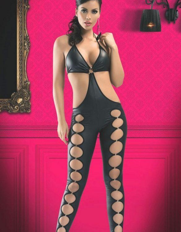 seksi siyah dansçı kız kostümü fk3970