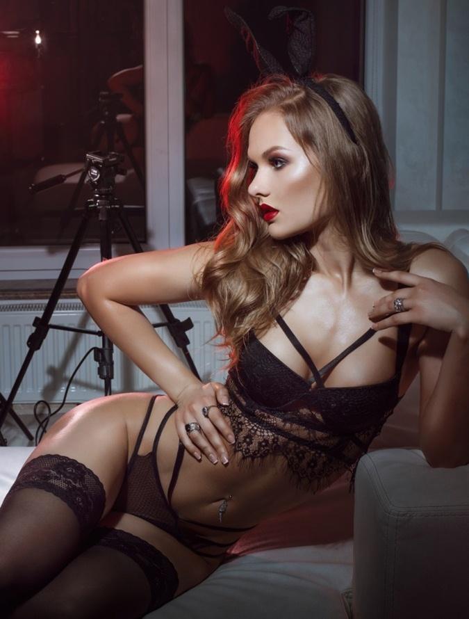 seksi siyah büstiyer iç giyim takımı fk4856